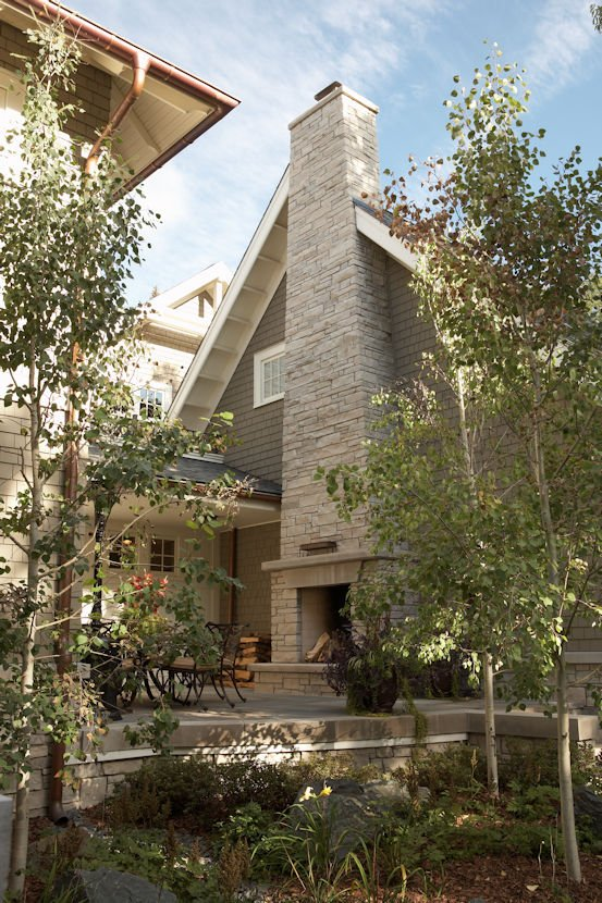 Hamptons Spirit outdoor fireplace by Twist interior design