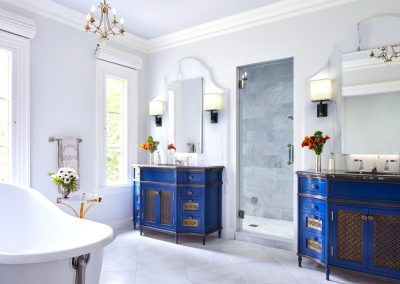 Interior design for Boulevard Blue washroom