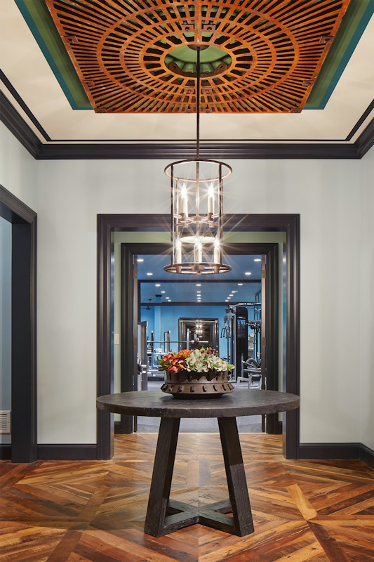 Interior design for Boulevard Blue foyer