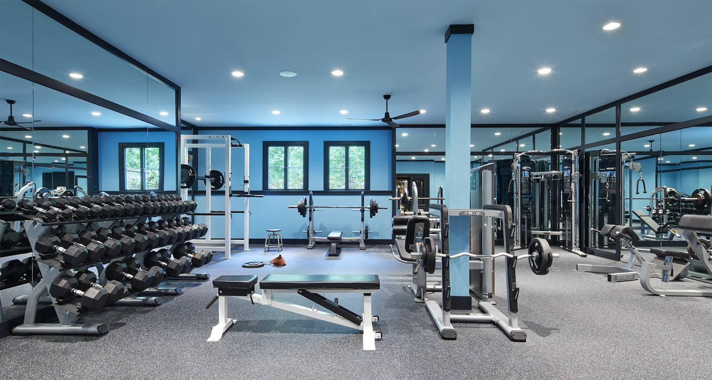 Interior design for Boulevard Blue guest gym