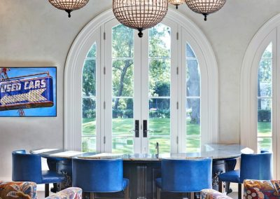 Interior design for Boulevard Blue breakfast nook
