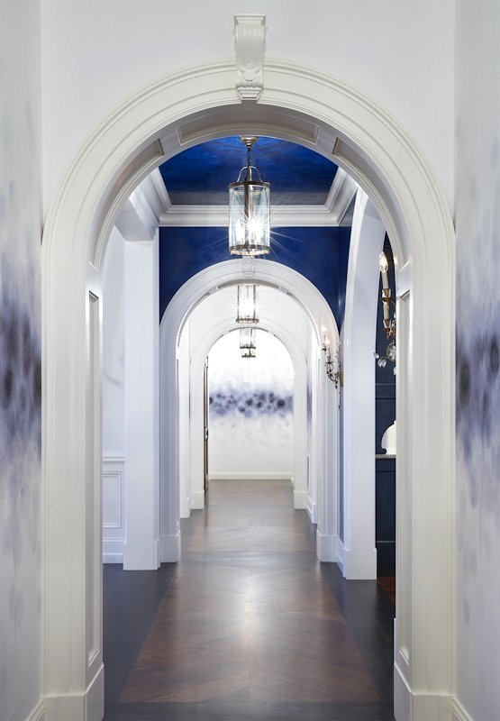 Interior design for Boulevard Blue hallway