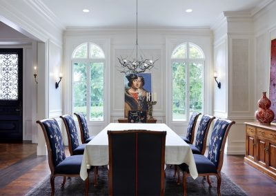 Interior design for Boulevard Blue dining room