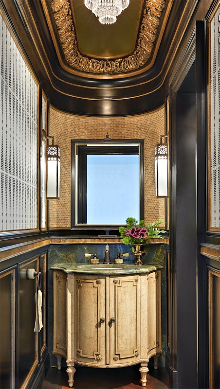 Interior design for Boulevard Blue guest washroom