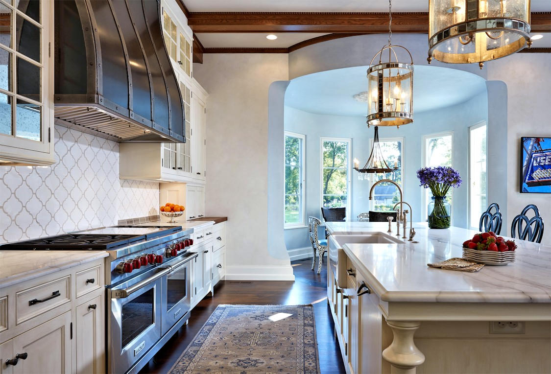 Interior design for Boulevard Blue kitchen