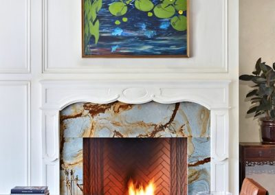 Interior design for Boulevard Blue fireplace