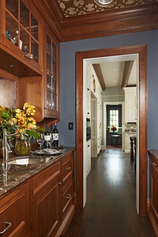 interior design for English Estate butler pantry
