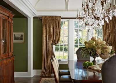 interior design for English Estate dining room