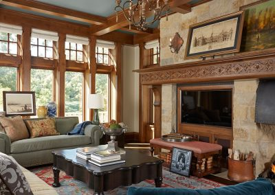 interior design for English Estate family room