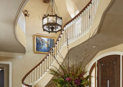 interior design for English Estate foyer