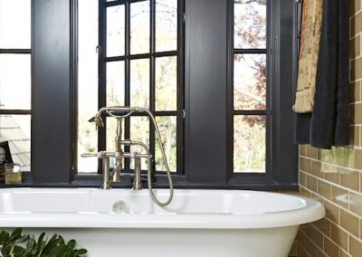 interior design for English Estate guest bath