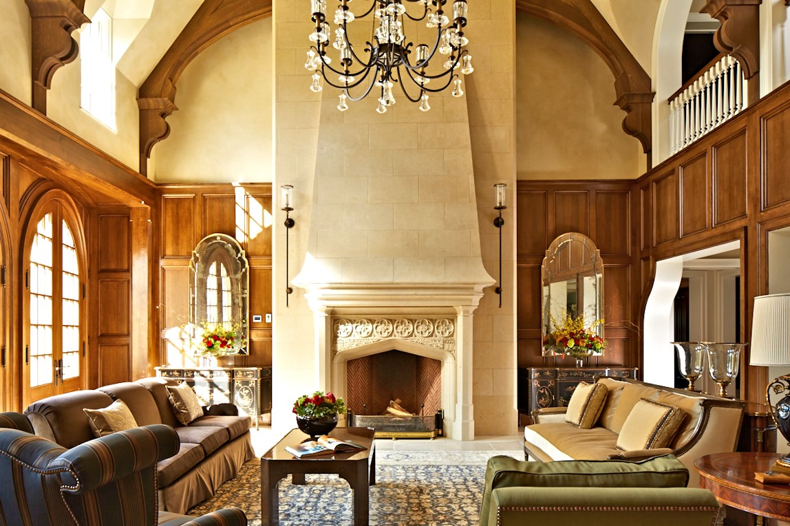 interior design for English Estate living room
