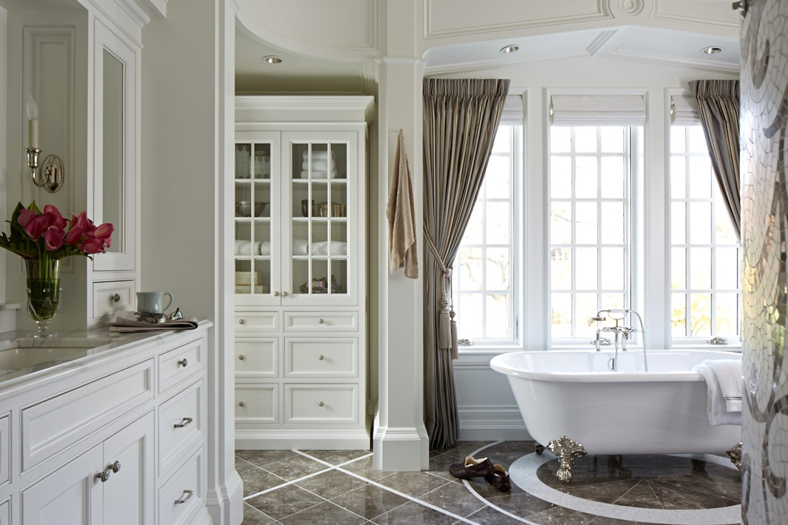 interior design for English Estate master bathroom