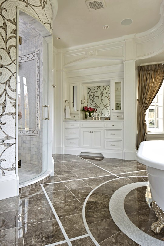 interior design for English Estate master bath
