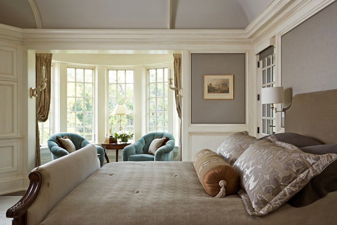 interior design for English Estate master bedroom