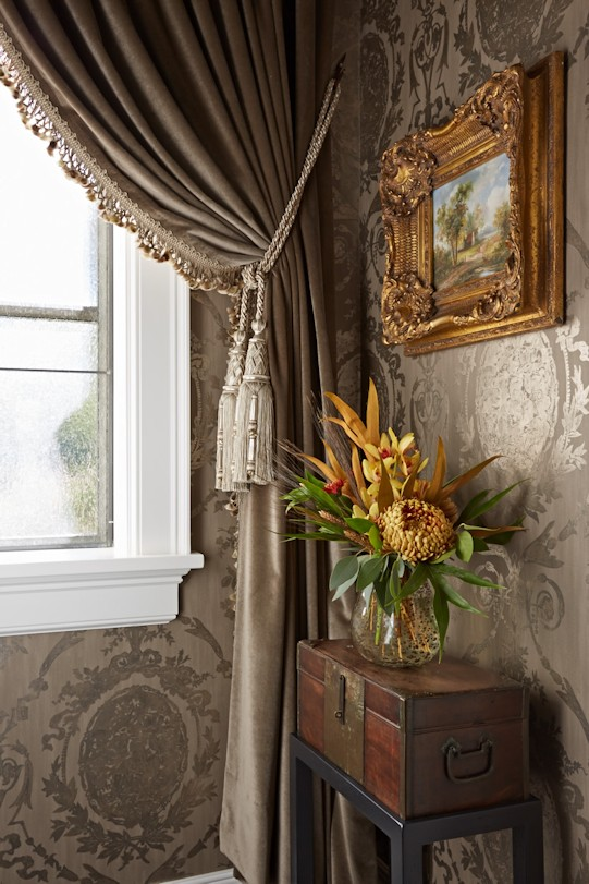 interior design for English Estate powder room