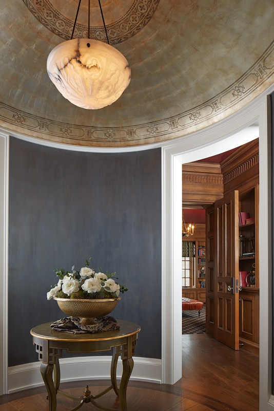 interior design for English Estate rotunda