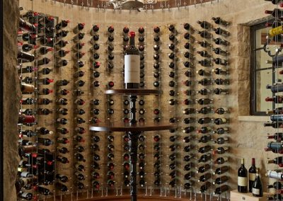 interior design for English Estate wine cellar