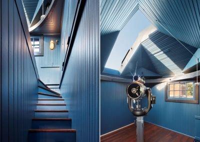stairway and observatory in ACT 2 by Twist Interior Design