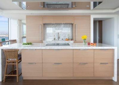 kitchen cabinets in Hockney Meets Mexico condo by Twist Interior Design