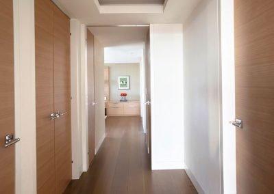 hallway in Hockney Meets Mexico condo by Twist Interior Design