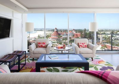 windowed view from Hockney Meets Mexico condo by Twist Interior Design
