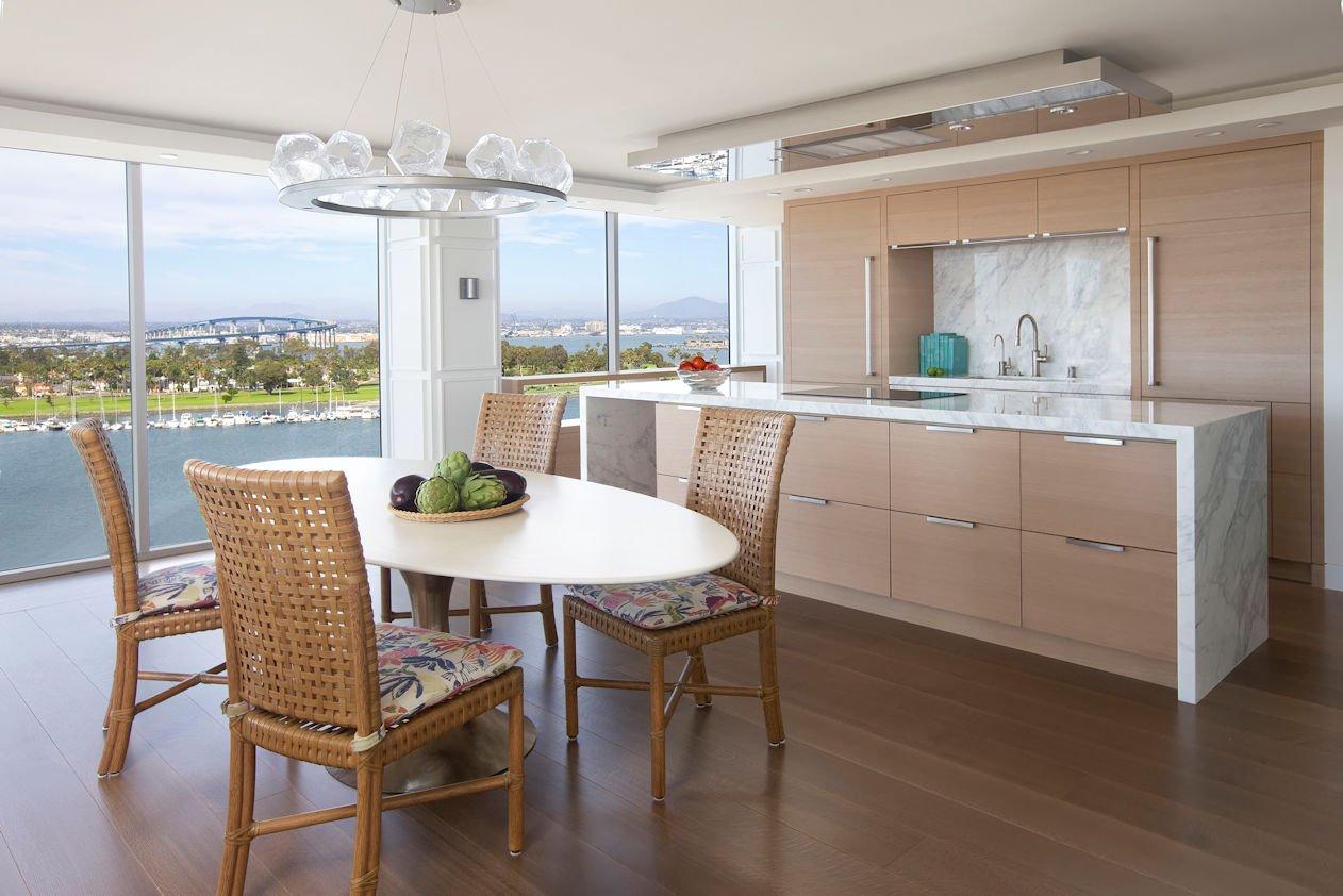 dining space in Hockney Meets Mexico condo by Twist Interior Design