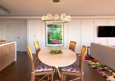 kitchen lighting in Hockney Meets Mexico condo by Twist Interior Design