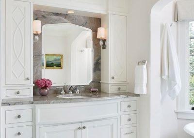 Regal Retreat bathroom vanity by Sandy LaMendola of Twist Interior Design
