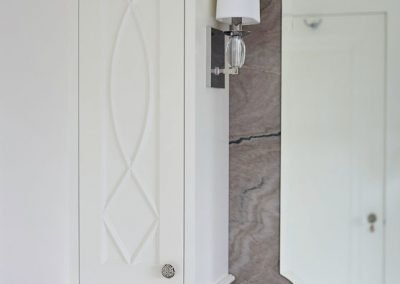 Regal Retreat granite bathroom counter by Sandy LaMendola of Twist Interior Design