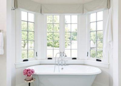 Regal Retreat claw-footed bathtub by Sandy LaMendola of Twist Interior Design