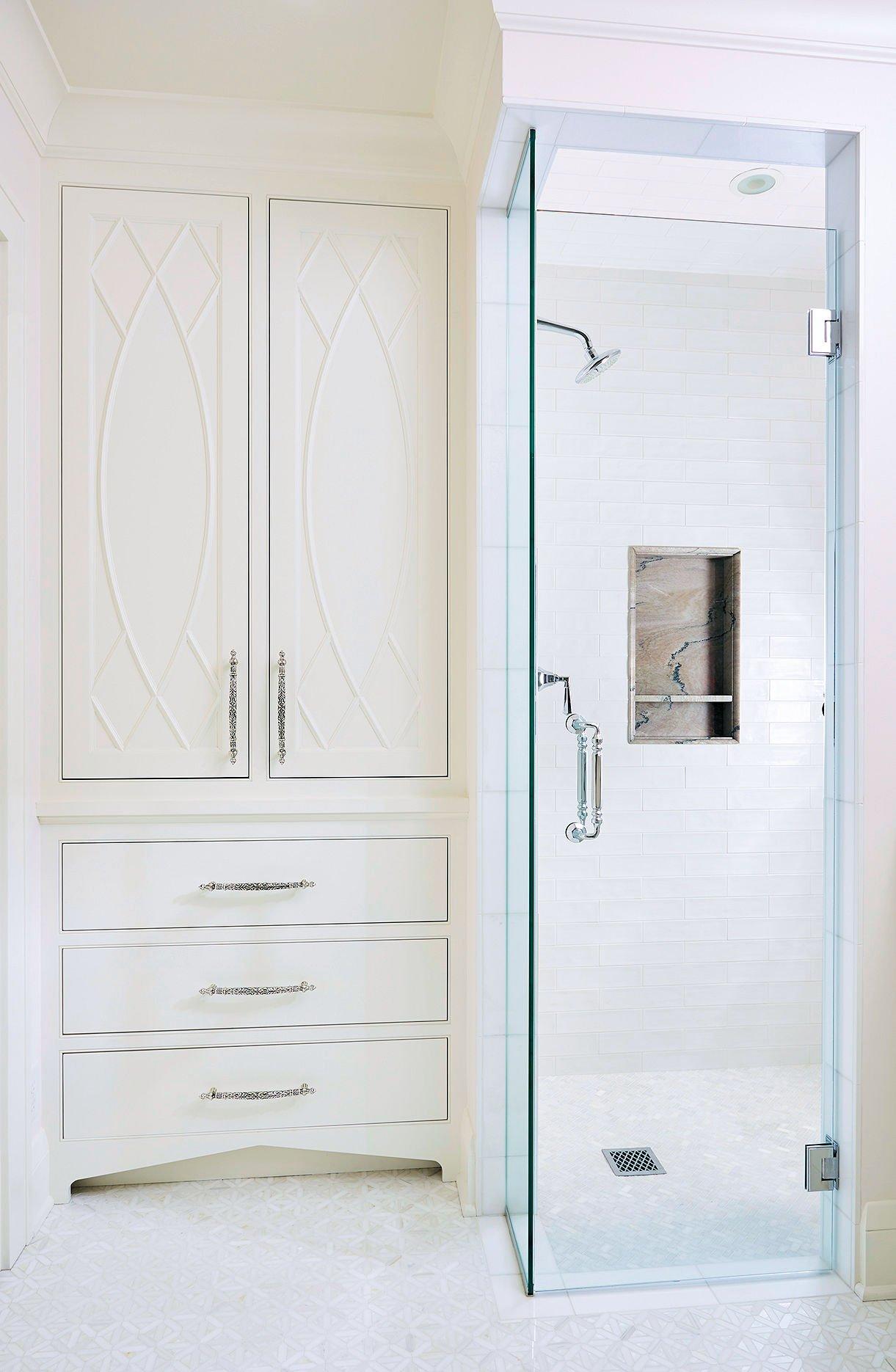 Regal Retreat shower detail by Sandy LaMendola of Twist Interior Design