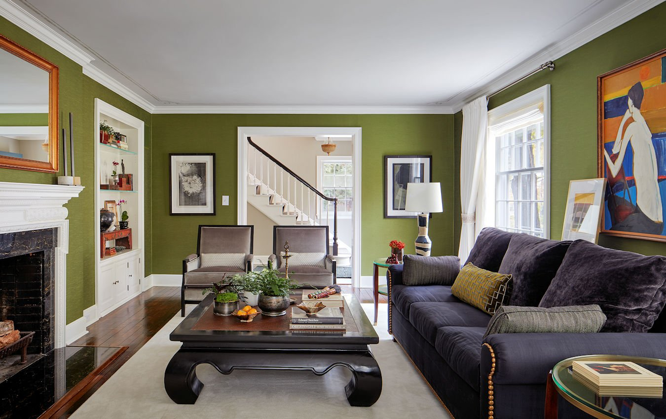 Traditionally Modern living room designed by Sandy LaMendola