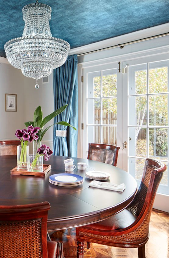 Traditionally Modern dining room designed by Sandy LaMendola