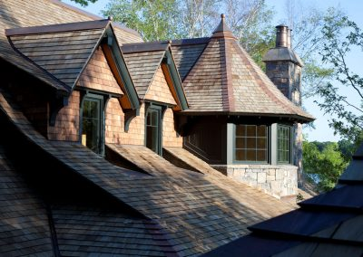 Lakeside Retreat roof gables by Twist Interior Design