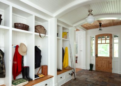 Lakeside Retreat mudroom by Twist Interior Design