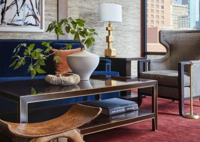 Hotel Ivy coffee table and furniture